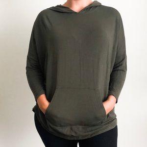 Lou & Grey | Olive Green Dolman Sleeve Shirt Top